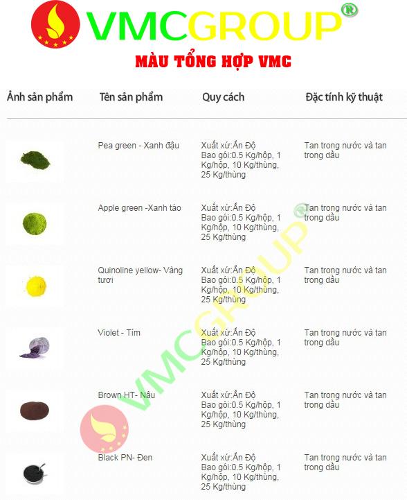 Màu thực phẩm tổng hợp 2