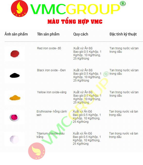 Màu thực phẩm tổng hợp 3